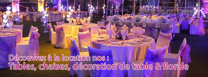 Location Table Chaise Evenement Rception